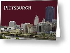 Pittsburgh Poster Greeting Card