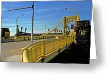 Pittsburgh - Roberto Clemente Bridge Greeting Card