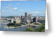 Pittsburgh Skyline From Mount Washington Greeting Card