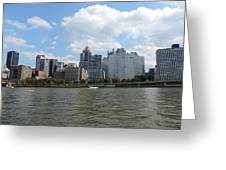 Pittsburgh Skyline From The Waterfront Greeting Card