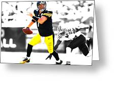 Pittsburgh Steelers Ben Roethlisberger Greeting Card
