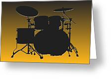 Pittsburgh Steelers Drum Set Greeting Card
