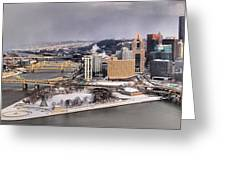 Pittsburgh's First Snow Of 2015 Greeting Card