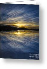 Pittwater Sunset Abstract Greeting Card
