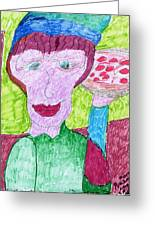 Pizza Anyone Greeting Card by Elinor Rakowski