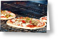 Pizza On The Grill Greeting Card