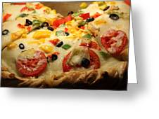 Pizza Pie - 5d20700 - Square Greeting Card