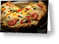 Pizza Pie - 5d20700 Greeting Card