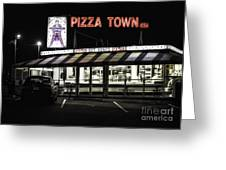 Pizza Town Greeting Card