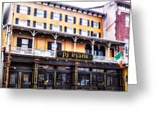 Pj Ryans Irish Pub Greeting Card