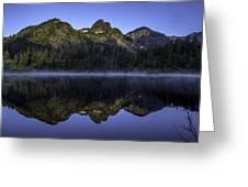 Pl Mountain Range Greeting Card
