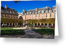 Place Des Vosges Paris Greeting Card