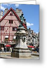 Place Francois Rude - Dijon Greeting Card