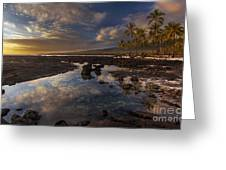 Place Of Refuge Sunset Reflection Greeting Card