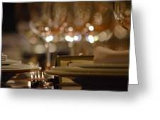 Place Setting 1 Greeting Card