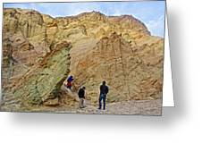 Places To Climb In Golden Canyon In Death Valley National Park-california Greeting Card
