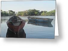 Placid Fishing Boats Greeting Card