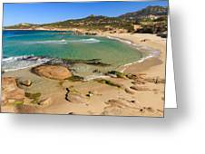 Plage De Petra Muna In Corsica Greeting Card