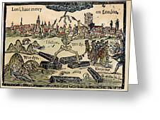 Plague Of London, 1665 Greeting Card