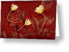 Plain Flowers Pop Art Greeting Card