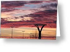 'plainfield Sunset II Greeting Card