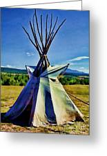 Plains Tribes Teepee Greeting Card