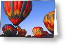 Plainville Hot Air Balloon Fesitval Greeting Card