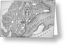 Plan Of The City Of Washington As Originally Laid Out In 1793 Greeting Card