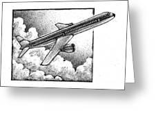 Plane Greeting Card