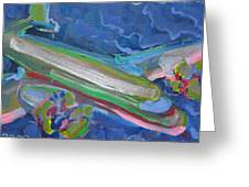 Plane Colorful Greeting Card