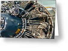 Plane Engine Close Up Greeting Card