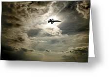 Plane In Flight Greeting Card