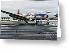 Plane On The Tarmac Greeting Card