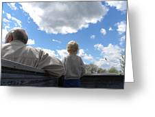 Plane Viewing From The Truck Bed Greeting Card by Sheri Lauren Schmidt