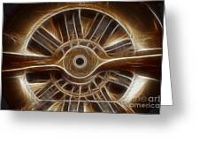 Plane Wooden Prop Greeting Card by Paul Ward