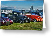 Planes And Cars Greeting Card