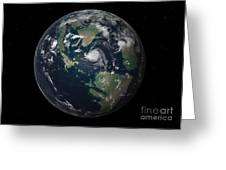 Planet Earth 90 Million Years Ago Greeting Card by Walter Myers