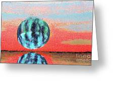Planet In Space  Greeting Card