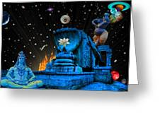 Planet Of Shiva  Greeting Card by Jason Saunders
