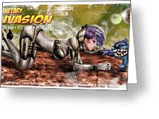 Planetary Invasion Greeting Card by Pete Tapang