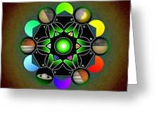 Planetary Metatron Zodiac Greeting Card