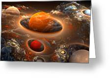 Planetary Plasmas Greeting Card