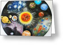 Planets And Nebulae In A Day Greeting Card