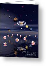 Planets Of The Solar System Surrounded Greeting Card