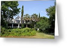 Plantation Home At Magnolia Plantation Greeting Card