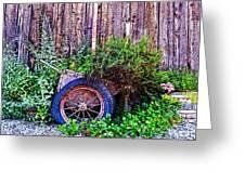Planted Wheel Greeting Card