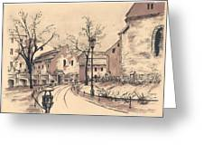 Planty Cracow Greeting Card