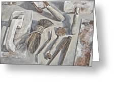 Plasterer Tools 1 Greeting Card