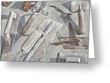 Plasterer Tools 2 Greeting Card by Anke Classen