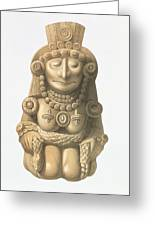 Plate From Ancient Monuments Of Mexico Greeting Card